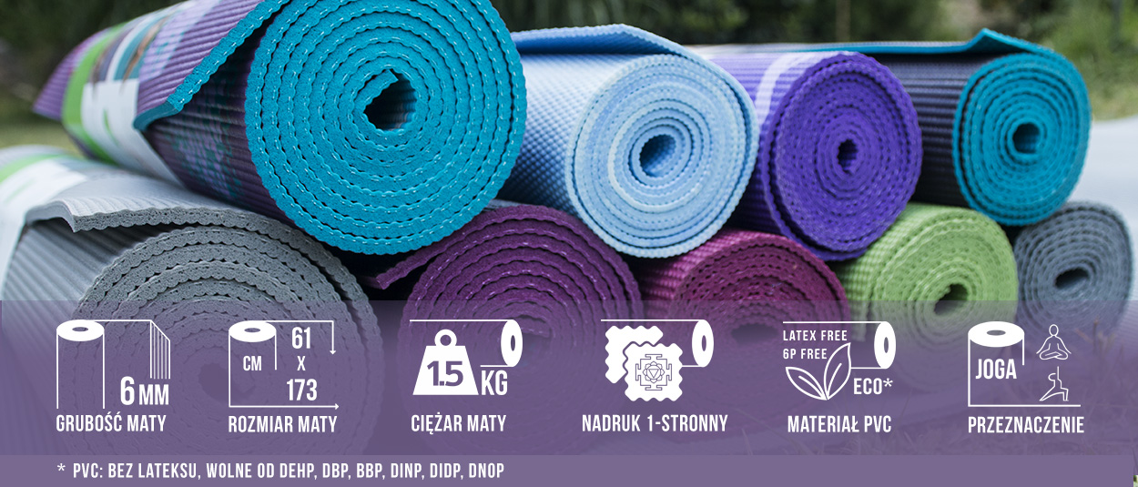Mata do jogi 6mm Capri Gaiam 173x61x0,6cm
