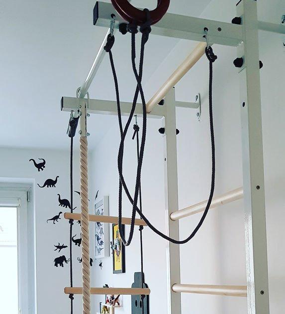 Niewiarygodnie Drabinka gimnastyczna dla dzieci Sport z akcesoriami BenchK HU49